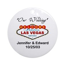 Las Vegas Wedding Keepsake (Round)
