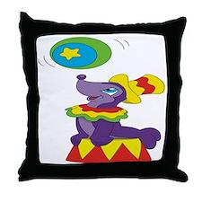 Playful Seal Throw Pillow