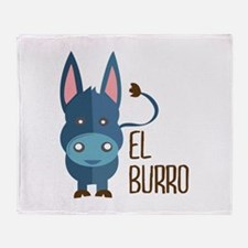 El Burro Throw Blanket