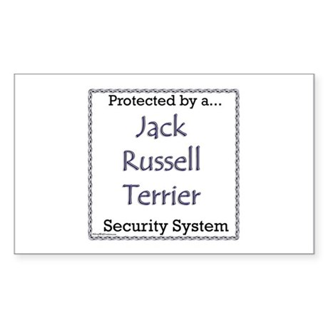 JRT Security Rectangle Sticker