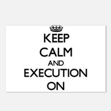 Keep Calm and EXECUTION O Postcards (Package of 8)