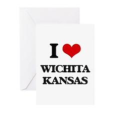 I love Wichita Kansas Greeting Cards