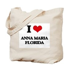 I love Anna Maria Florida Tote Bag