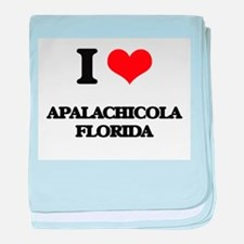I love Apalachicola Florida baby blanket