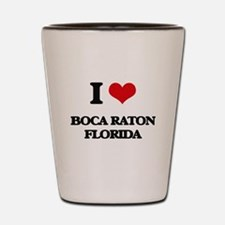 I love Boca Raton Florida Shot Glass