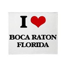 I love Boca Raton Florida Throw Blanket