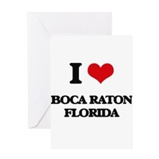 I love Boca Raton Florida Greeting Cards