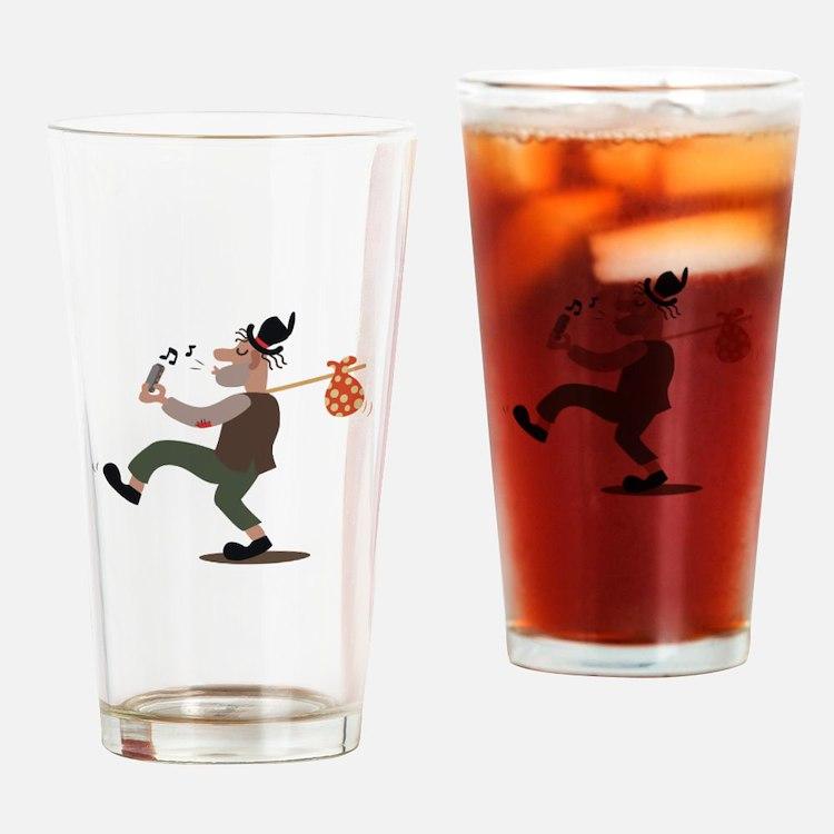 Hobo Whistler Drinking Glass