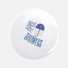 """Umbrella April Showers 3.5"""" Button (100 pack)"""