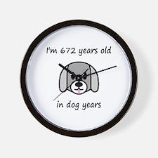 96 dog years 2 - 2 Wall Clock