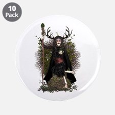 """Hedge Witch ~ Hetty 3.5"""" Button (10 pack)"""