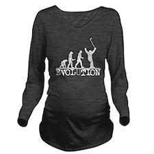 Evolution Hockey Long Sleeve Maternity T-Shirt