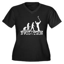Evolution Ho Women's Plus Size V-Neck Dark T-Shirt