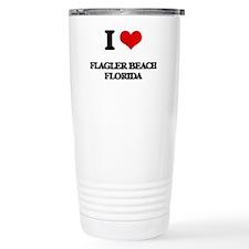 I love Flagler Beach Fl Travel Mug