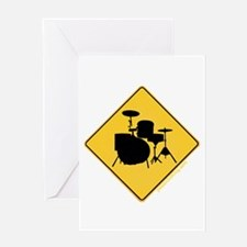 Crossing Zone Drums Greeting Card