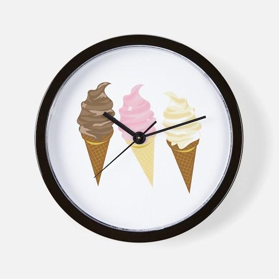 Three Cones Wall Clock