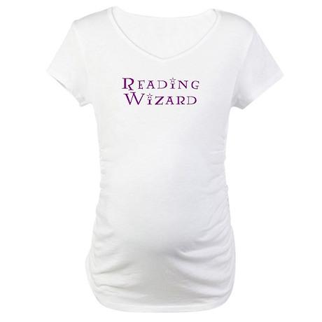Reading Wizard Maternity T-Shirt