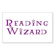 Reading Wizard Rectangle Stickers