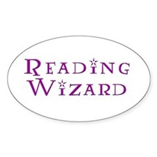 Reading Wizard Oval Decal