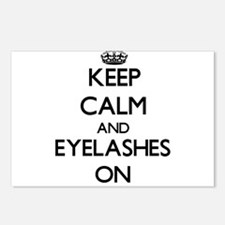 Keep Calm and EYELASHES O Postcards (Package of 8)