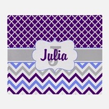 Cute Monogrammed initials Throw Blanket