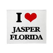 I love Jasper Florida Throw Blanket