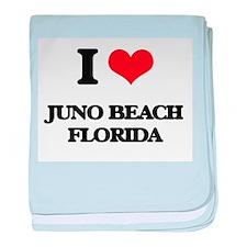 I love Juno Beach Florida baby blanket