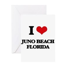 I love Juno Beach Florida Greeting Cards