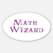 Math Wizard Oval Decal