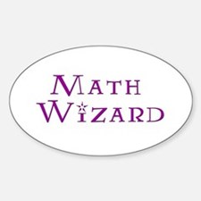 Math Wizard Oval Stickers