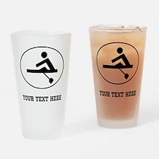 Rower Oval (Custom) Drinking Glass