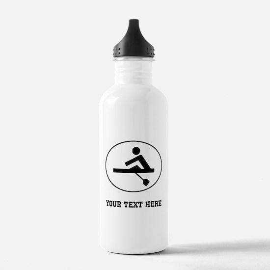 Rower Oval (Custom) Water Bottle