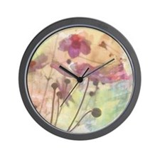 Flowery field forever Wall Clock
