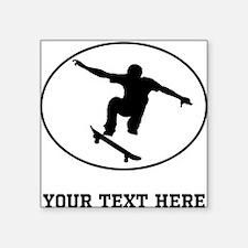 Skateboarder Oval (Custom) Sticker
