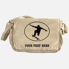 Skateboarder Oval (Custom) Messenger Bag