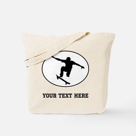 Skateboarder Oval (Custom) Tote Bag