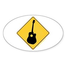 Crossing Zone Acoustic Guitar Oval Decal