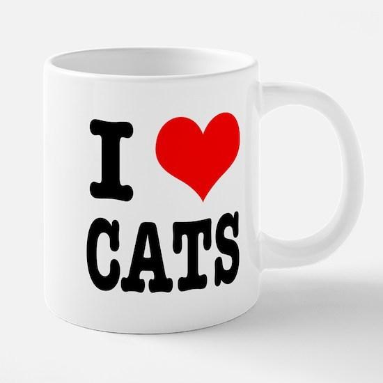I Heart (Love) Cats Mugs
