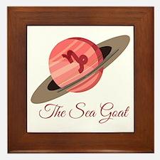 The Sea Goat Framed Tile