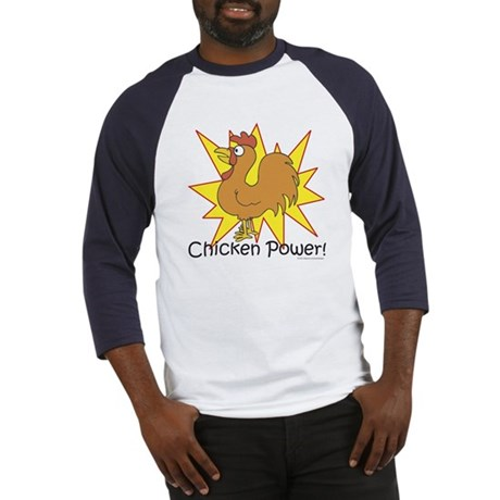 Chicken Power Baseball Jersey