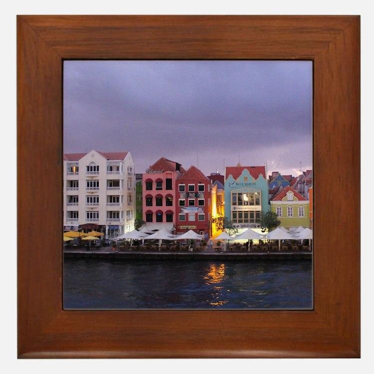 Curacao Dusk Framed Tile