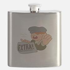 Paper Boy Flask