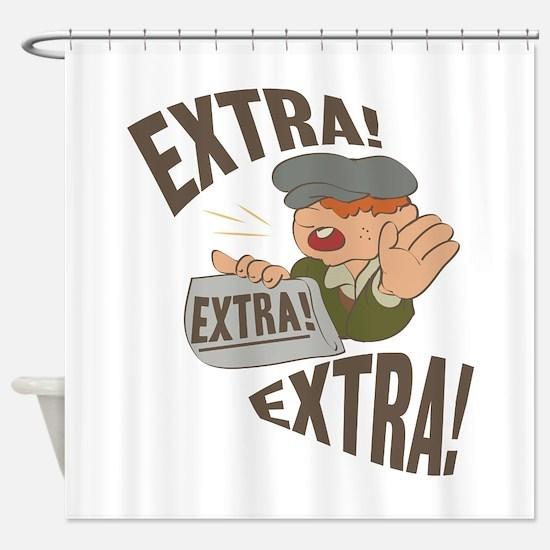 Extra Extra Shower Curtain