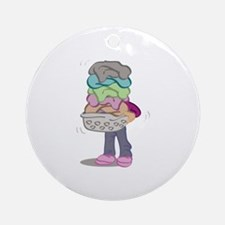 Laundry Pile Ornament (Round)
