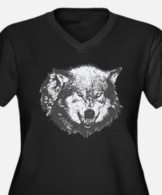 Snarling Wolf Plus Size T-Shirt