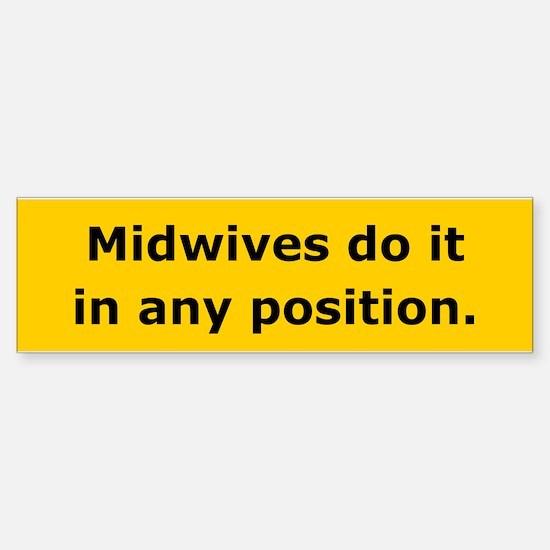 Midwives Do It Bumper Bumper Bumper Sticker
