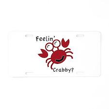 Feelin' Crabby? Aluminum License Plate