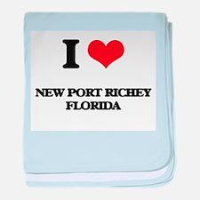 I love New Port Richey Florida baby blanket