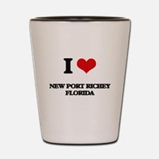I love New Port Richey Florida Shot Glass
