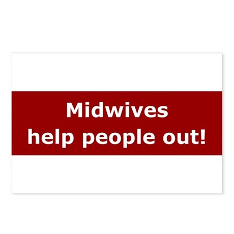 Midwives Help People Out Postcards (Package of 8)